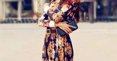 Multicolor Floral Print Floor Length Chiffon Dress High