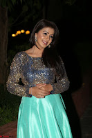 Nikki Galrani in Green Skirt  Top at Marakathamani music launch ~  Exclusive (107).JPG