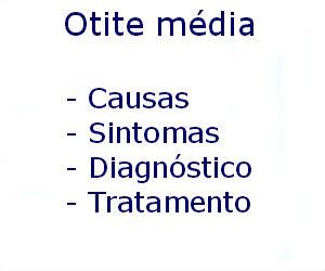 Otite média causas sintomas diagnóstico tratamento prevenção riscos complicações