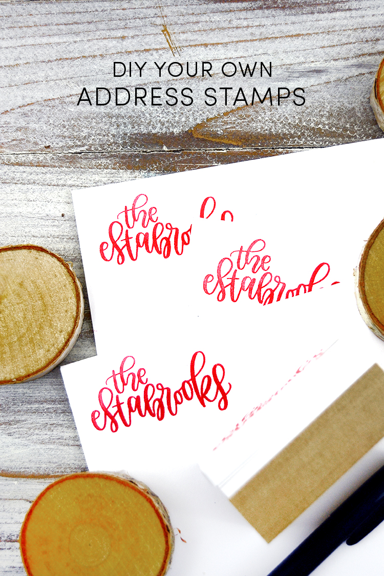 address stamp diy your own silhouette mint