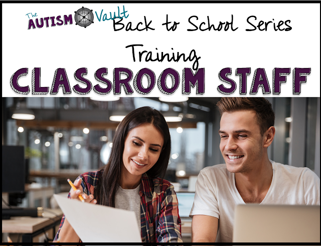 Training is crucial but often overlooked in special education classroom.  Read about the different steps for effective staff training to ensure that traing is effective and a good use of time.