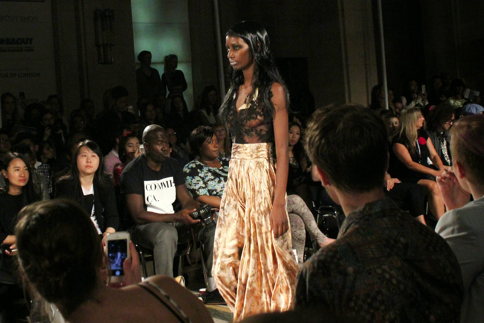london-fashion-week-2014-lfw-spring-summer-2015-blogger-fashion-Dora-Abodi-catwalk-models-freemasons hall-fashion-scout-lace-top-trousers-maxi-skirt