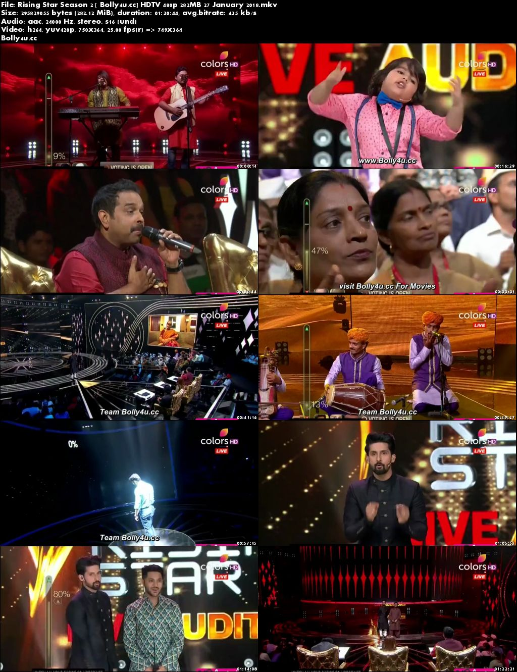 Rising Star Season 2 HDTV 480p 280MB 27 January 2018 Download