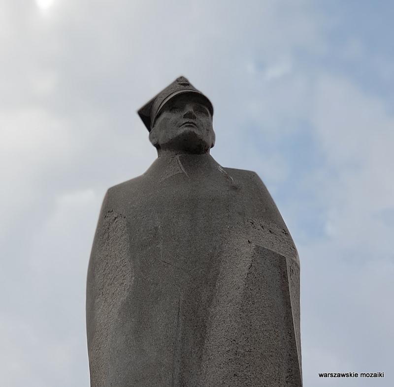 Warszawa Warsaw pomnik rzeźba AK granit