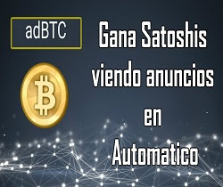 adBTC, Gana Satoshis viendo anuncios en Automático