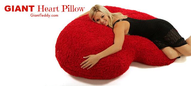 heart body pillow