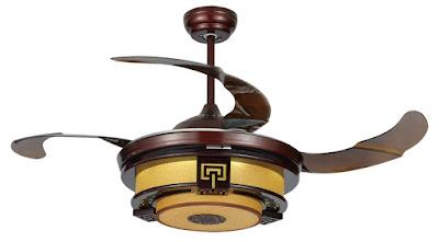 Ngạc nhiên với sự đa dạng trong các mẫu thiết kế quạt trần đèn
