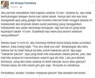 Postingan viral siswi Banyuwangi