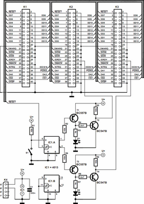 Simple Hard Disk Selector Circuit Diagram