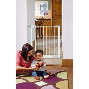 BABY SAFETY   Offering maximum security Safety 1st Pressure Fit Metal Safety Gate. £15.00 @ Argos