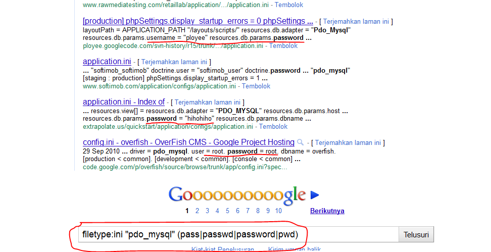 Google dork to Get usernames And Password + database ~ IndiCyborg