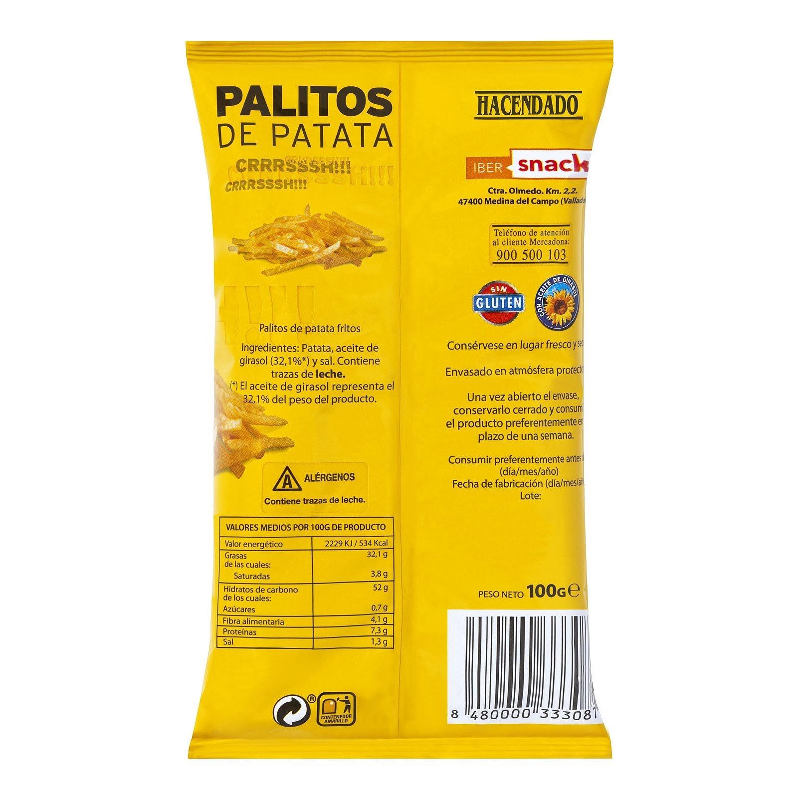 Palitos de patata Hacendado