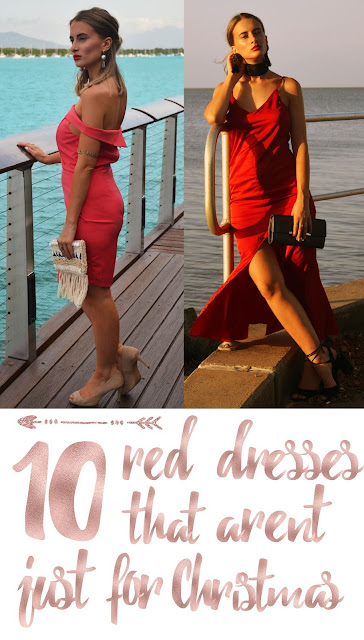 10 Red Dresses That Aren't Just For Christmas! Red dresses that you can rock over xmas and wear all year round. #christmasoutfit #reddress