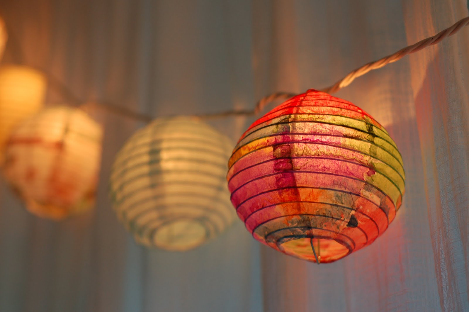 Painted Paper Lanterns