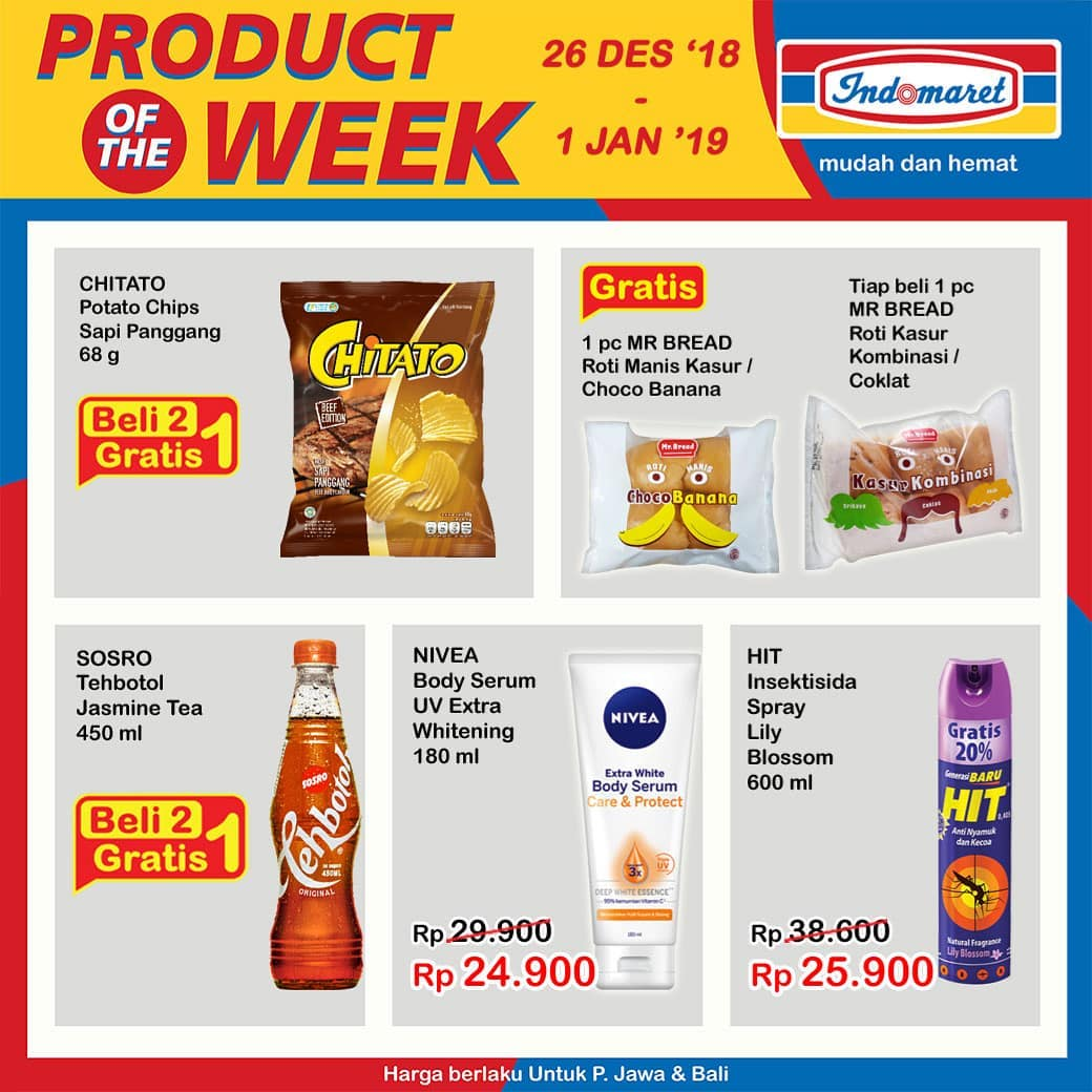 Indomaret - Promo Product of The Week Periode 26 - 01 Jan 2019