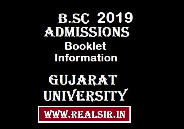 B.SC Admissions Information Booklet -2019 Gujarat University