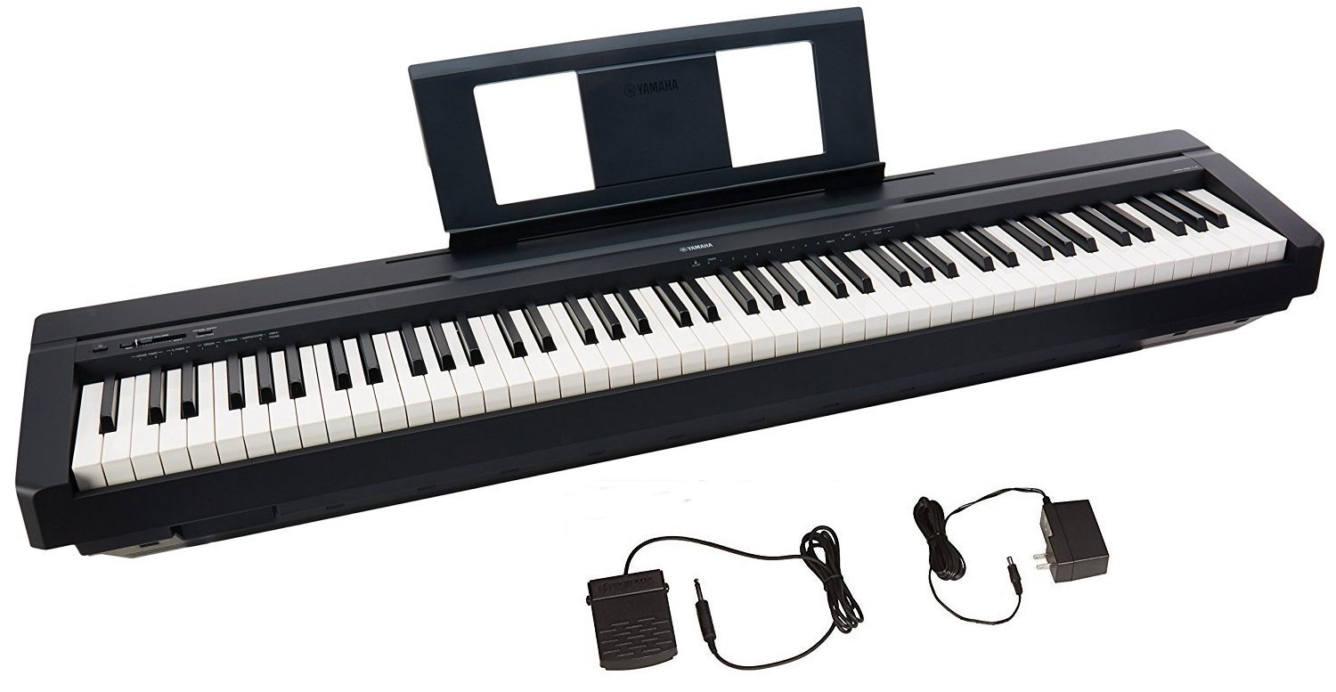 micostar mall com yamaha p45 88 key weighted action digital piano with sustain pedal and power. Black Bedroom Furniture Sets. Home Design Ideas