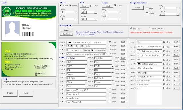 Aplikasi Cetak Kartu Perpustakaan Tampilan Terbaru