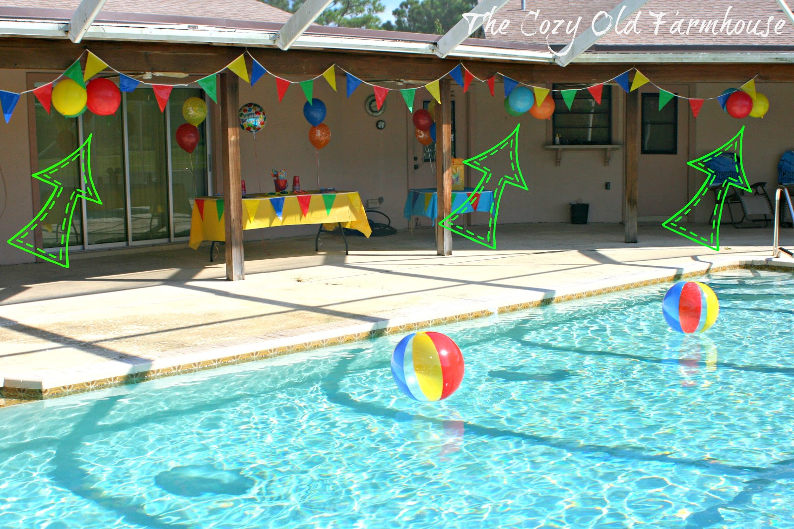 The cozy old farmhouse simple and budget friendly pool for Pool decorations
