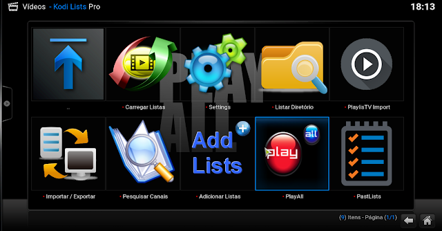 Add-On - Kodi Lists Pro - KODI - Gerencie Listas no Kodi