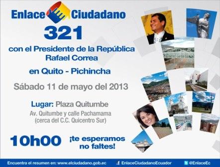 Cadena Sabatina 321 del 11 mayo 2013