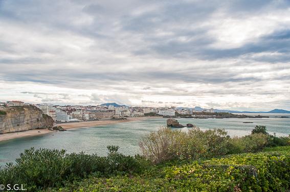 Vista de Biarritz y Playa Grande Francia