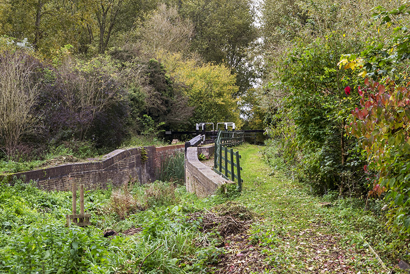 Restored lock (very narrow) at Buckingham Canal Nature Reserve