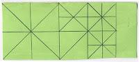 División por diagonales y triángulos