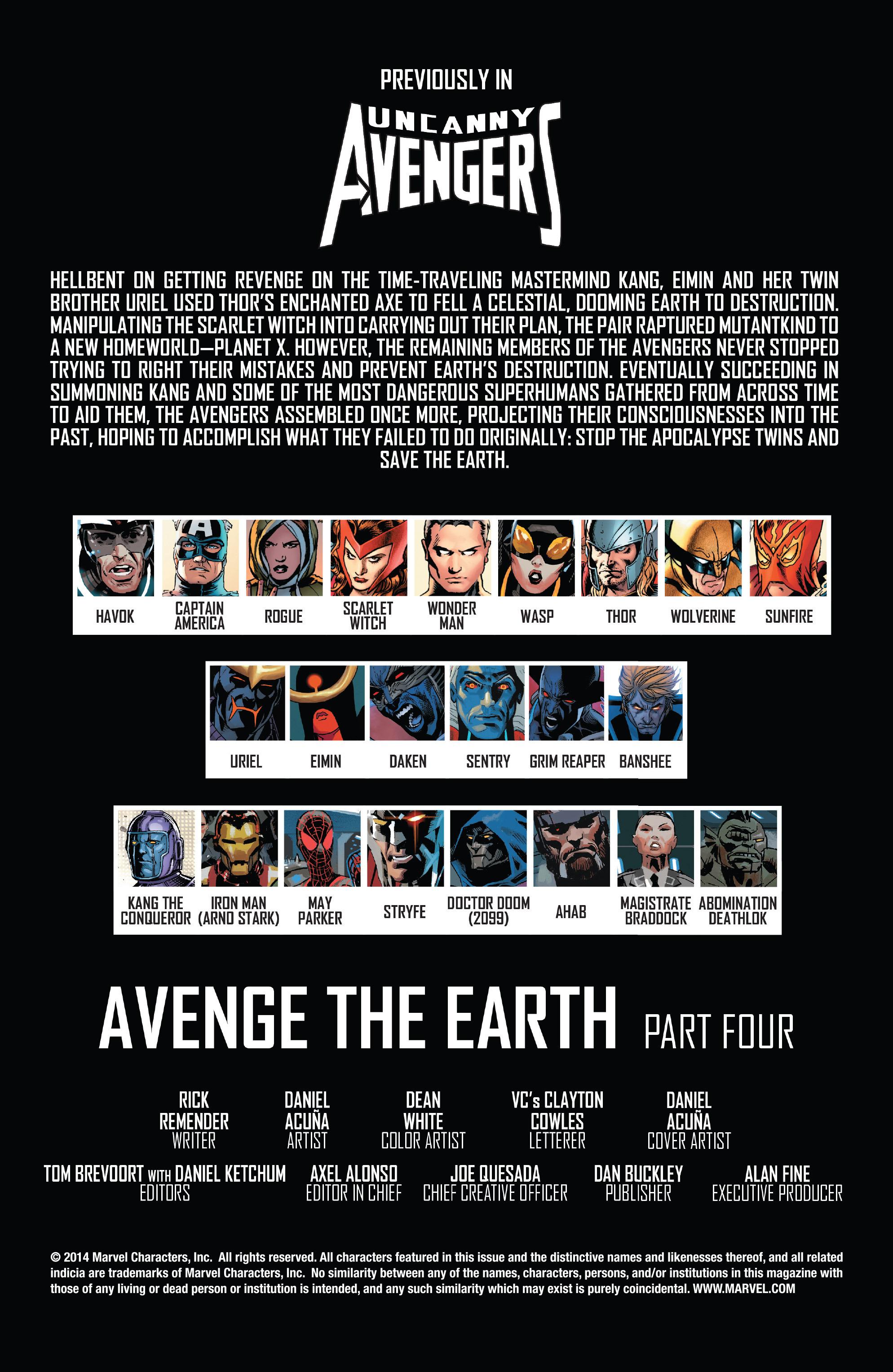 Read online Uncanny Avengers (2012) comic -  Issue #21 - 2