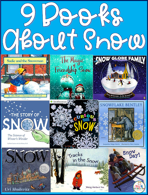 Books about Snow. Snow themed books for kindergarten and first grade.