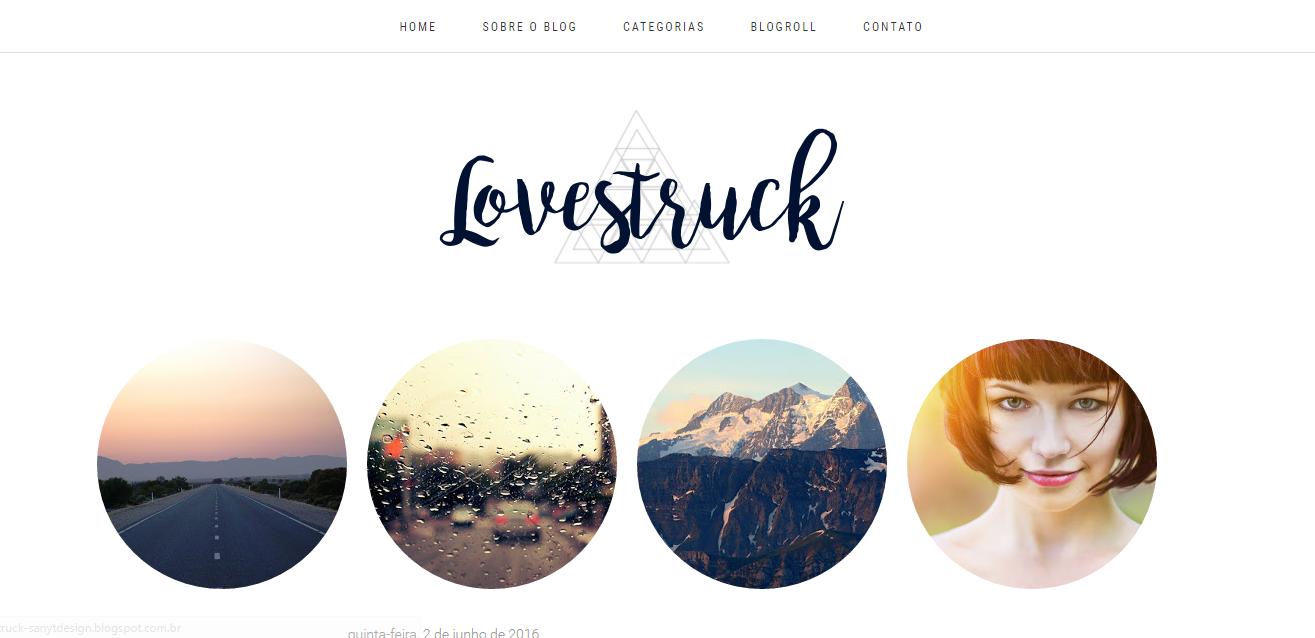 Layout Free Lovestruck para blogger