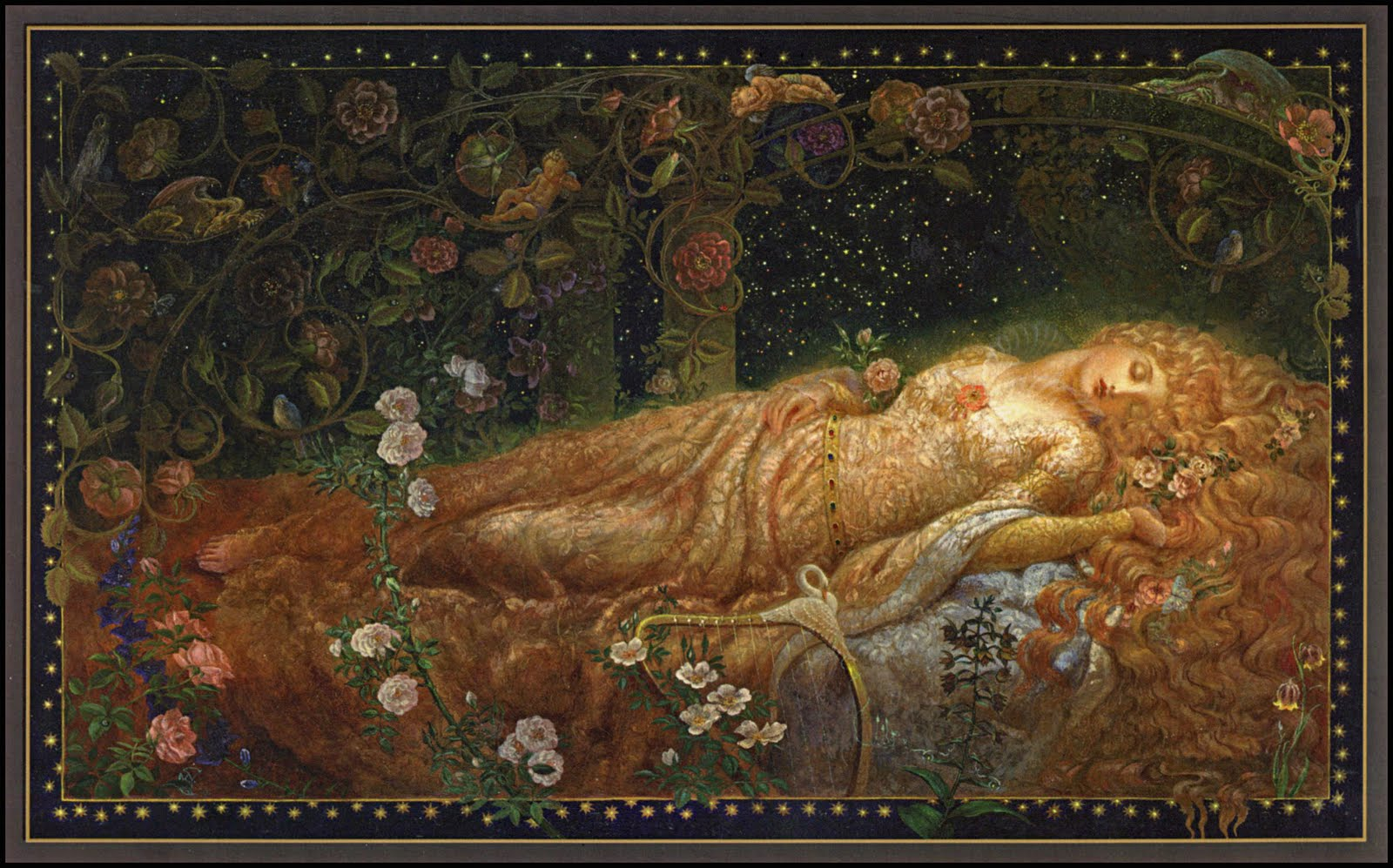 Image result for sleeping beauty old painting
