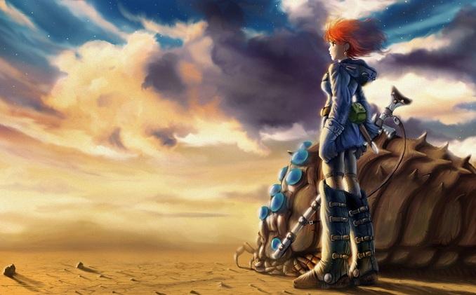 Menceritakan kisah Nausicaä (Shimamoto), seorang putri dari Lembah Angin yang terlibat dalam pertempuran melawan Tolmekia, kerajaan yang mencoba untuk menggunakan senjata kuno untuk memusnahkan sebuah hutan yang dihuni oleh serangga mutan raksasa. Nausicaä berusaha mencegah Tolmekia membuat hewan-hewan tersebut marah.