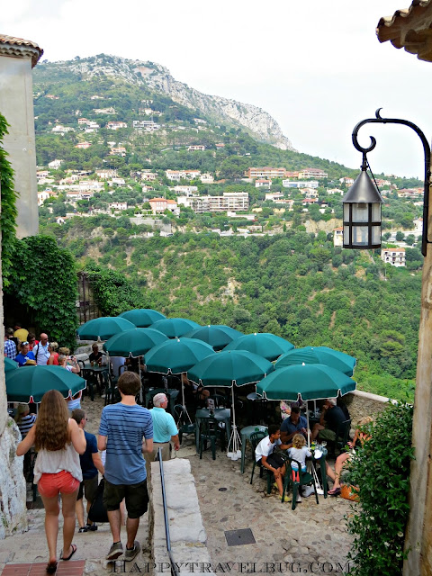 The view from an outdoor cafe in Eze, France