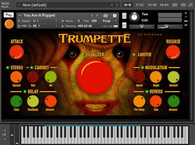 Download Trumpette free paper trumpet Kontakt library