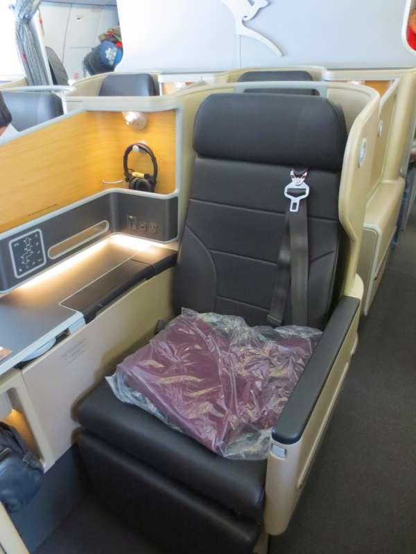 QANTAS A330 Business Class seat