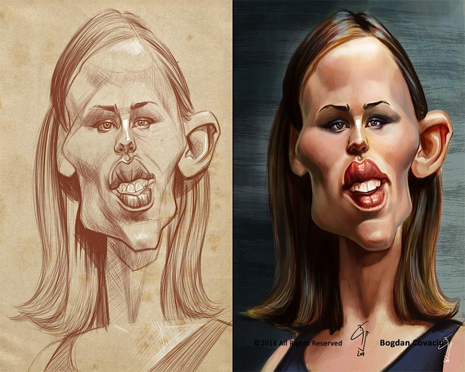 Jennifer Garner por Bogdan Covaciu