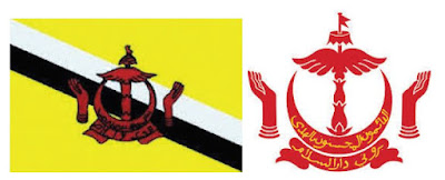 Bendera dan Lambang Negera Brunei Darussalam