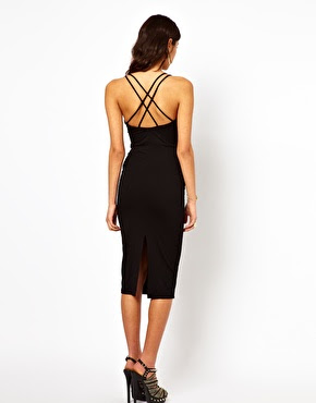 cross back black dress