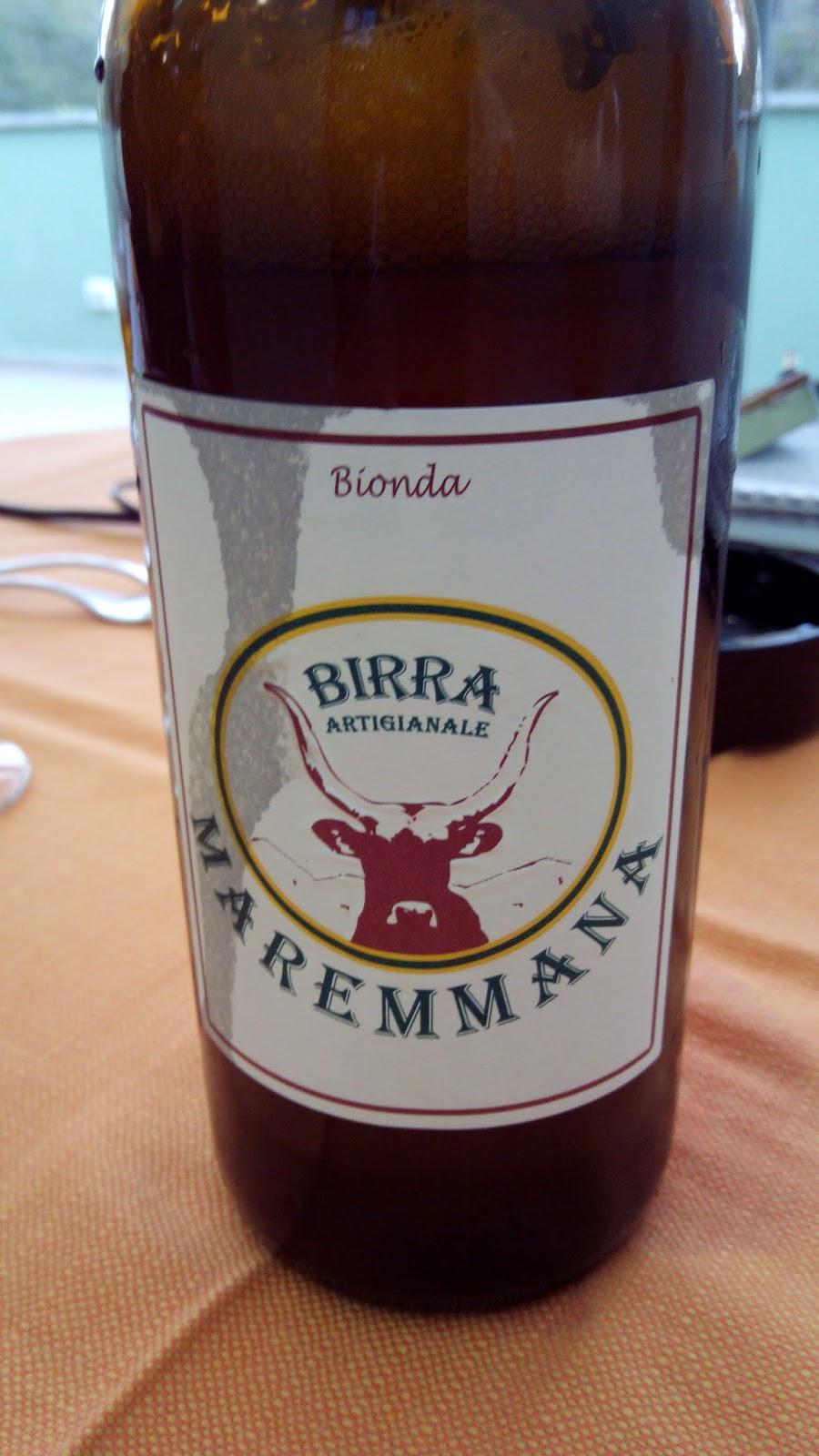Cerveja artesanal Maremanna, típica desta região