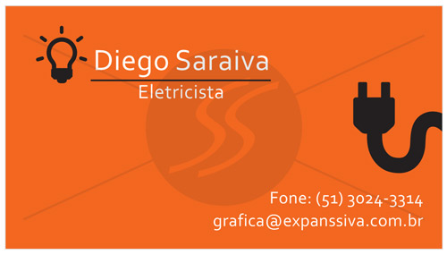 cartoes de visita eletricistas - Cartões de Visita para Eletricistas, Criativos e plugados