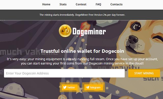 افضل موقع تعدين عملة دوجكوين + اثبات سحب  Dogecoin Miner