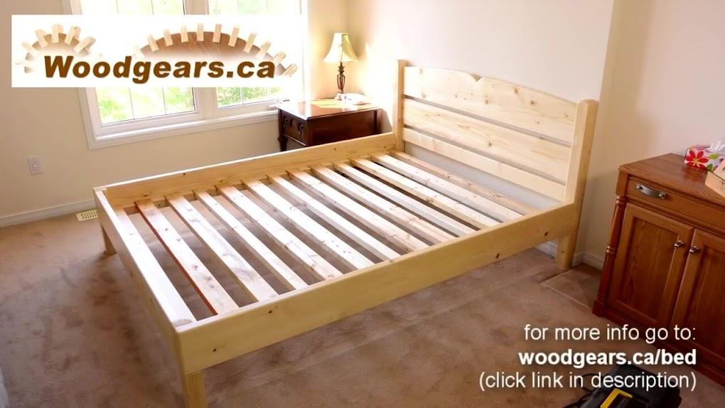 Pin camas de dos plazas en madera u s 13500 mercadolibre for Como hacer una base de cama
