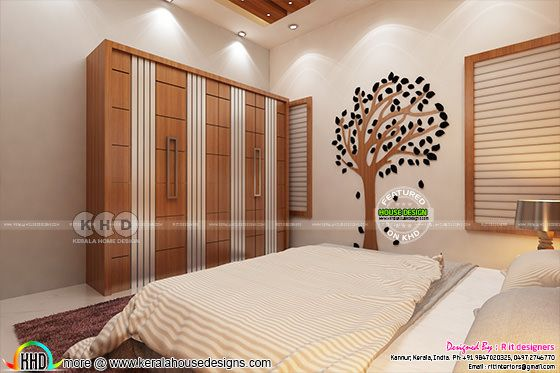 Creative bedroom interior