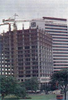 Pembangunan Gedung BRI II, Jakarta 1990an