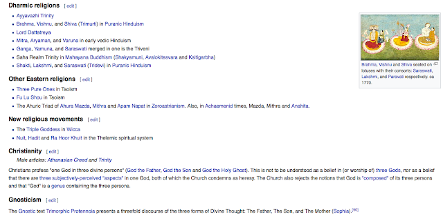 Triple deity From Wikipedia, the free encyclopedia 6
