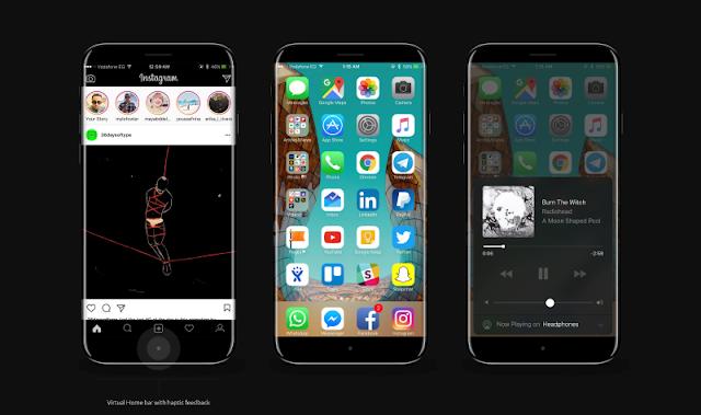 صور تخيلية متوقعة لجهاز آي فون 8 iPhone القادم