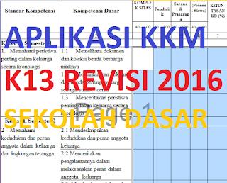 APLIKASI KKM K13 SD REVISI 2016