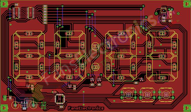 PCB jam digital 7 segmen