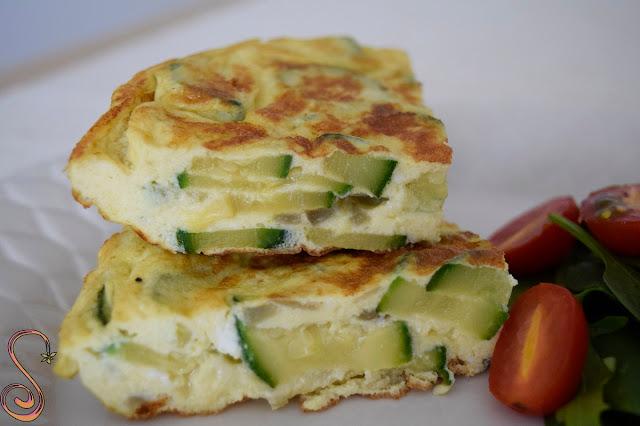 Tortilla de zucchini y queso